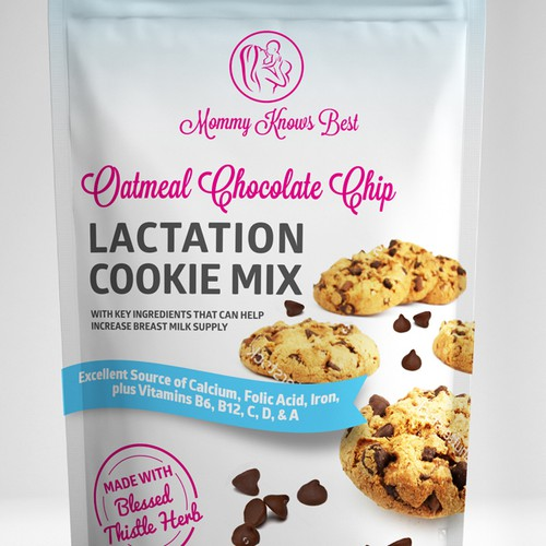 Lactation cookie mix packaging