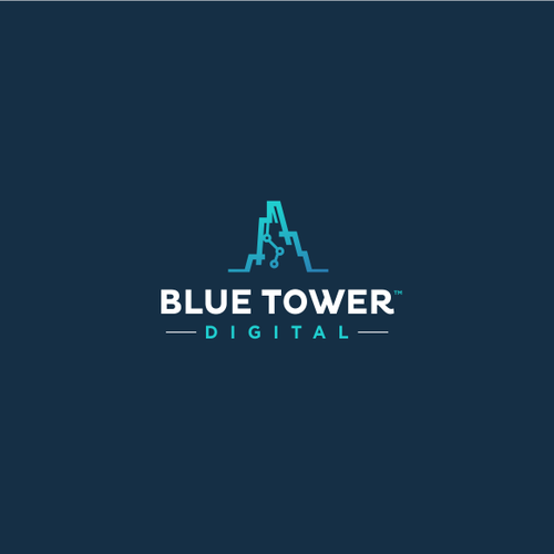 Logo design for BLUE TOWER DIGITAL