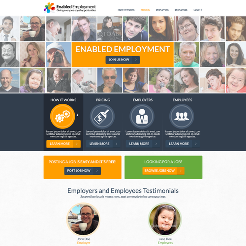 Enabled Employment needs a new website design