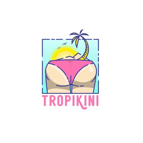 bikini shop logo for young people