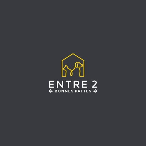 Modern & Friendly logo for Entre 2 bonnes pattes