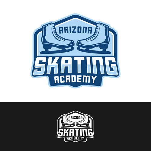 Arizona Skating Academy Logo Design
