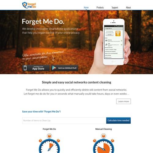 Create a web design for a revolutionary app company