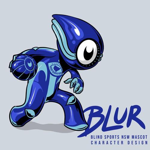 BLUR Mascot design