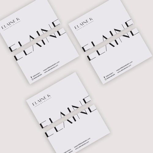 Business cards for cosmetic brand