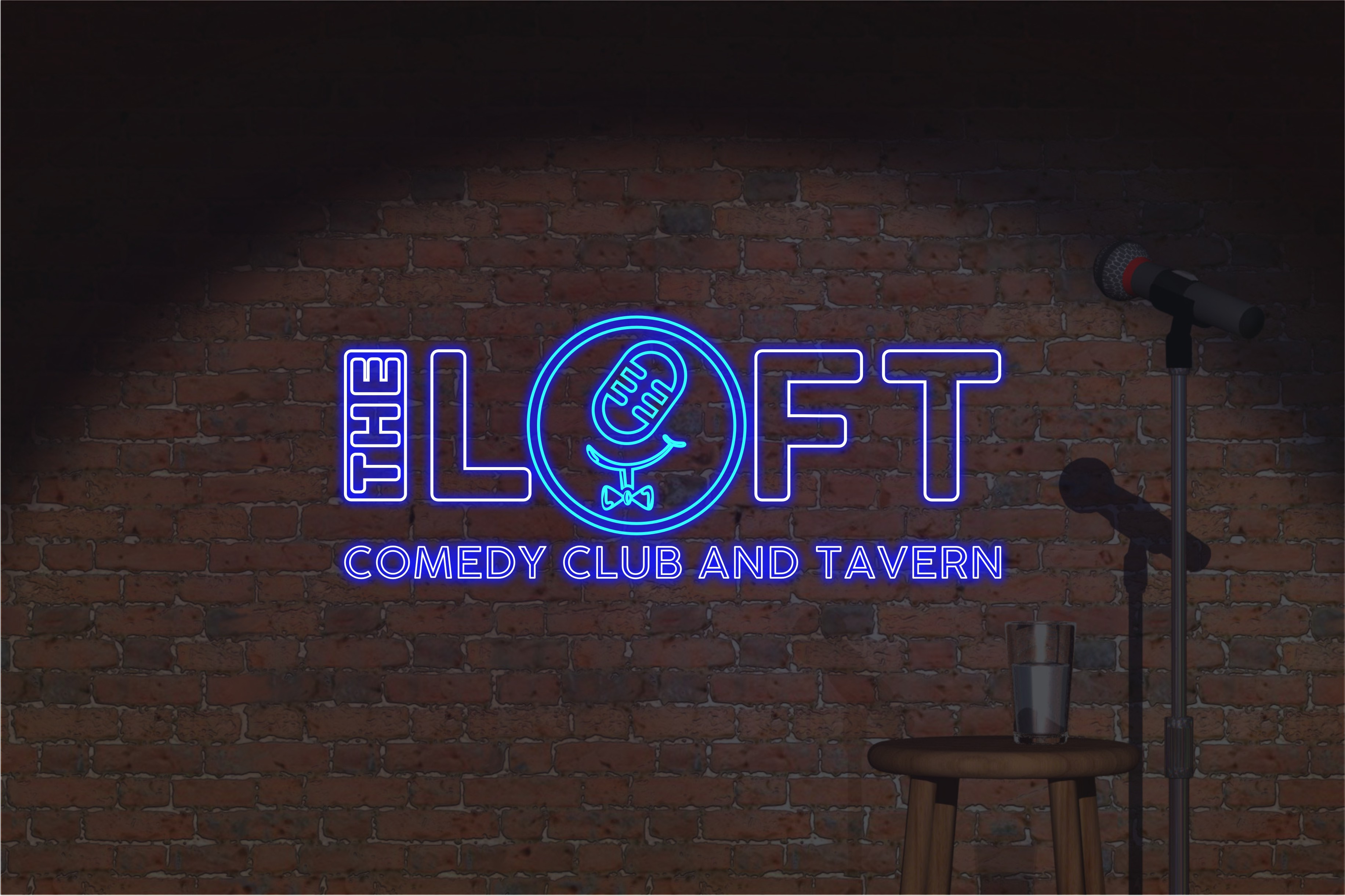 Logo design for growing comedy club brand