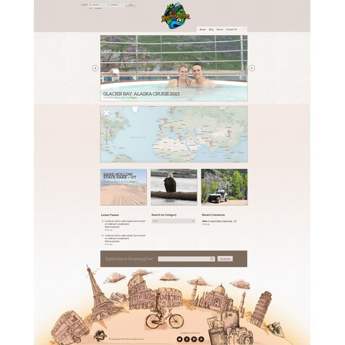 Web Design - World Travel Blog