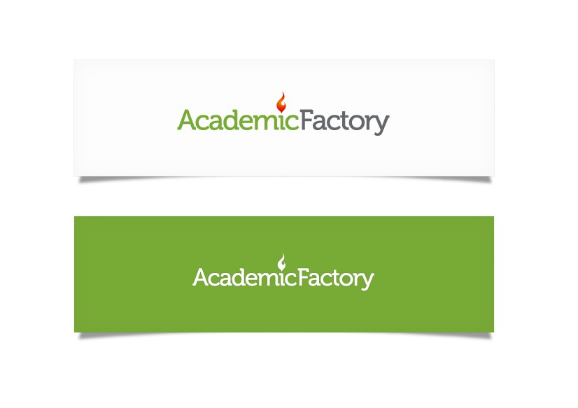 Create an Inspiring new LOGO for Academic Factory, a young company (you can expect daily feedback)