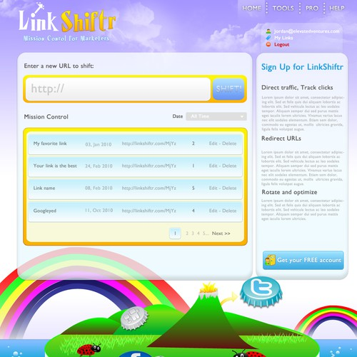 Modern Page Design for Link Redirection Site