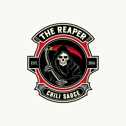 logo for the reaper chili sauce