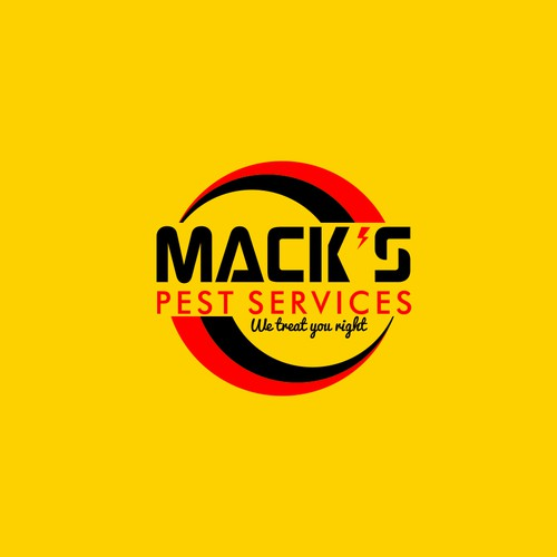 Create a fresh, new logo and look for Mack's, a pest control company in the U.S.A.