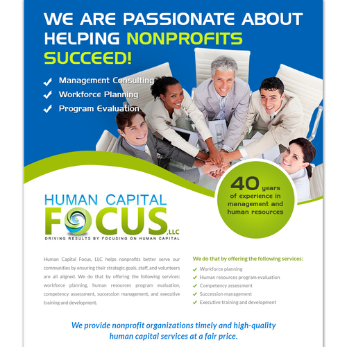 Design an Ad for a consulting group