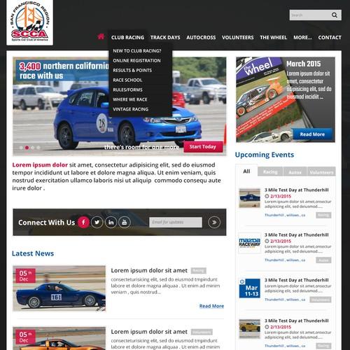 Responsive web design for premier motorsport racing organization