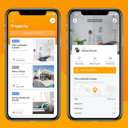UI/UX Design for Property Rental App