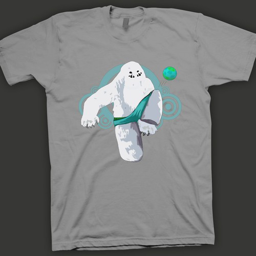 Create cool and fun designs with YETI's doing silly human stuff!