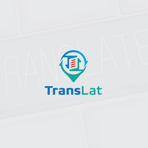 simple but elegant logo for TransLat