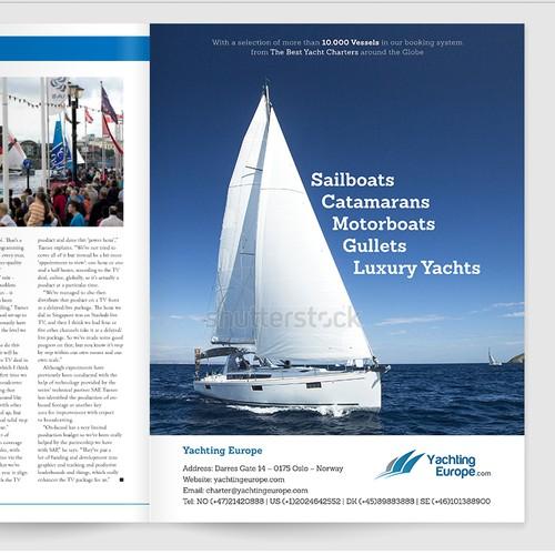 Magazine advertisement for Yachting Europe