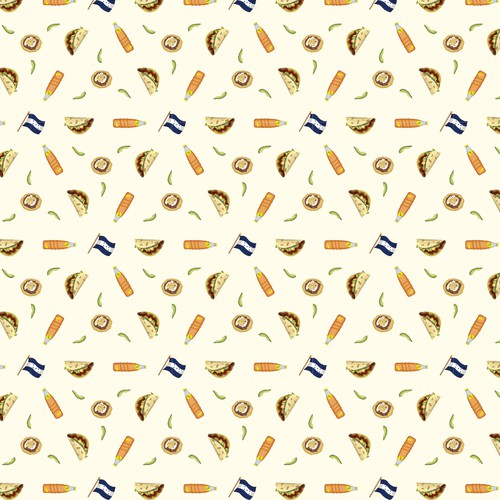Honduras Food Shirt Pattern - tasty