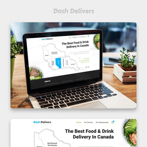 Webpage Design For Food Delivery Company