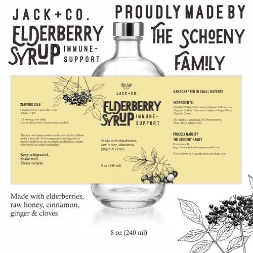 Retro/Vintage Syrup Bottle Design