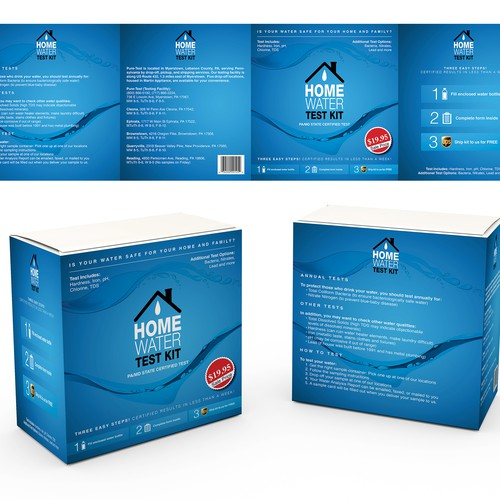 Package design for Water Test Kit