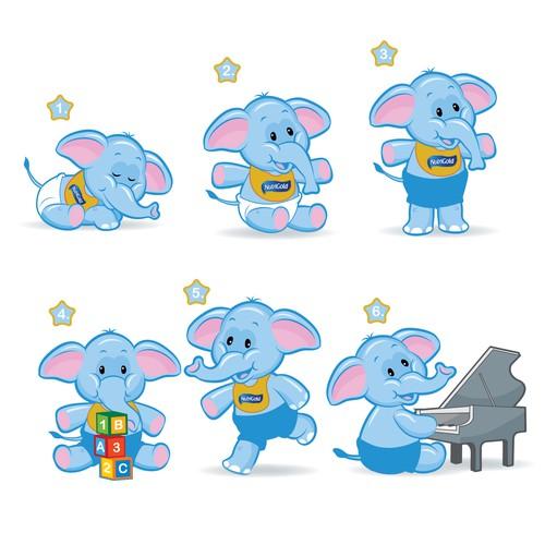cute elephant mascote