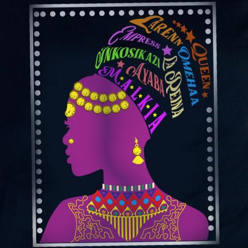 """African Diaspora """"QUEEN"""" Dialect T-Shirt Design"""