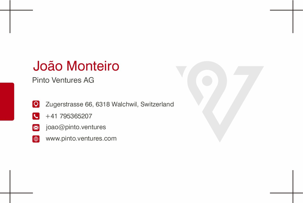 Business cards with our logo...