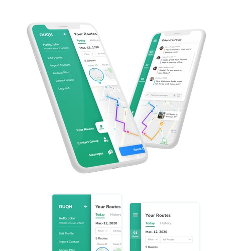 Fitness App UI design