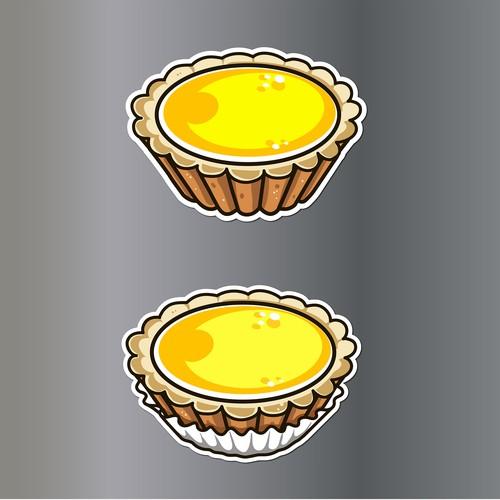 sticker egg tart