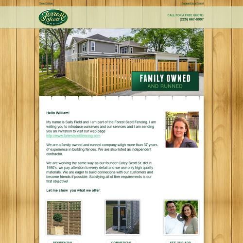 Forrest Scott Fencing Email Design