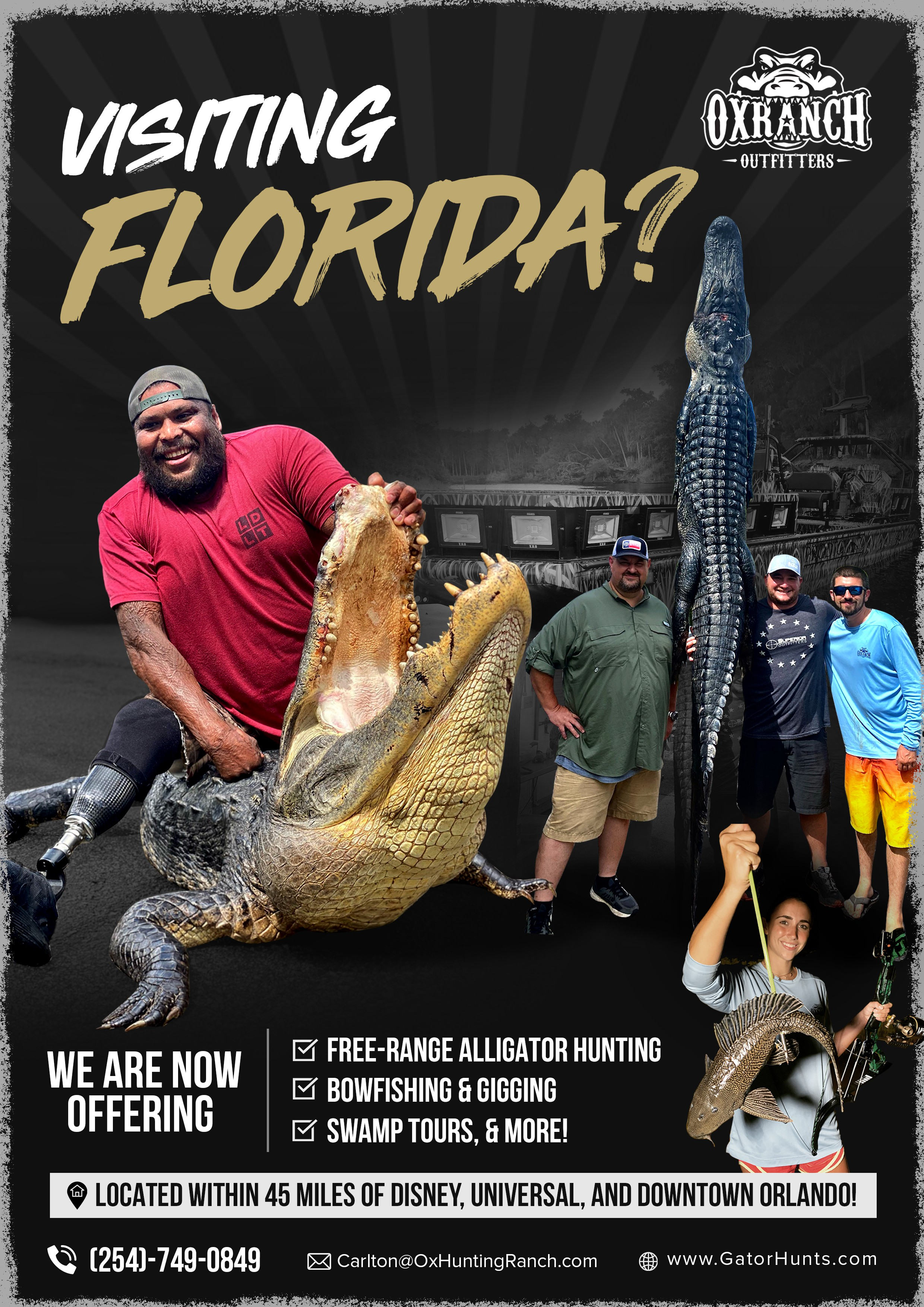 Ox Outfitters Promo Poster - Alligator Hunting & More