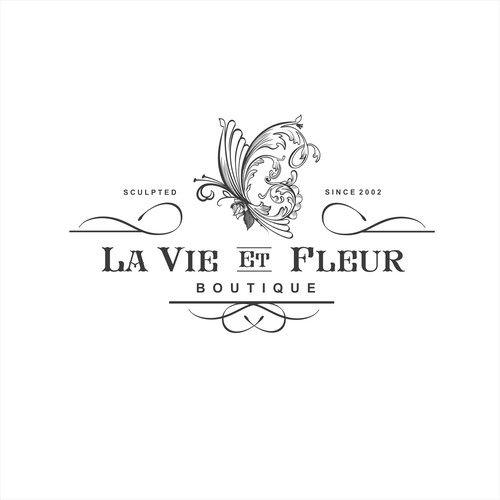 Classic Luxury but Sophisticated logo for LA VIE ET FLEUR