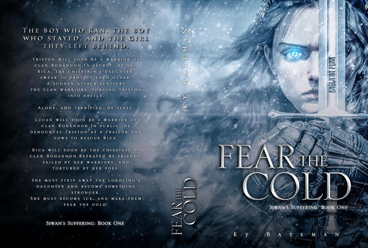Harsh-Fantasy book cover. Scarred. Bleeding. Determined.