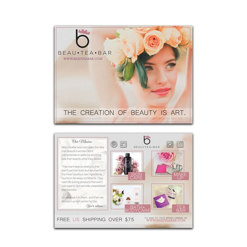 Post card for BeauTeaBar