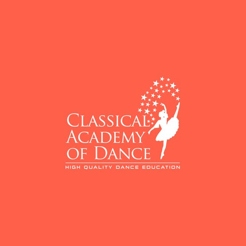 Logo for a classic academy of dance.