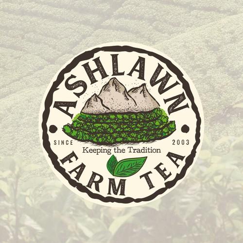 Tea Farm company logo concept