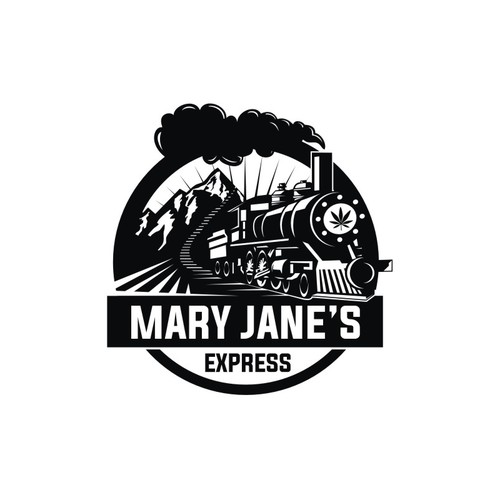 Vintage feel logo for Mary Jane's Express, a cannabis dispensary in southern California