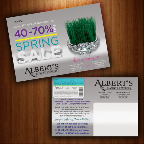 Spring Sale Mailer for High End Jeweler.