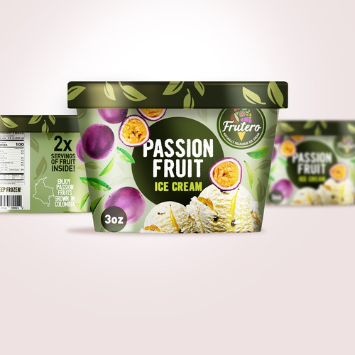 Frutero Ice cream passion fruit