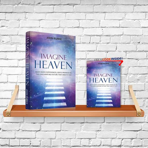 """A book cover that can't be ingored for """"Imagine Heaven"""""""