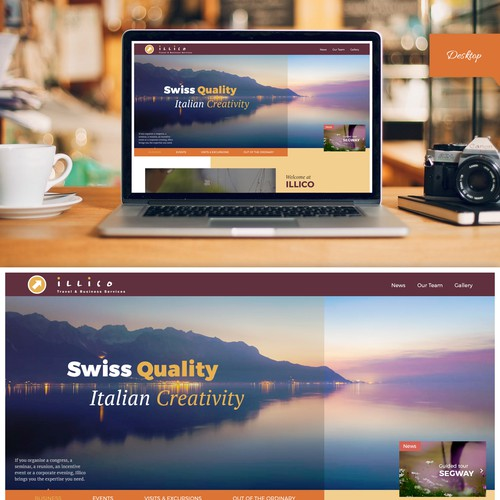 Website re-design for a Travel Agency