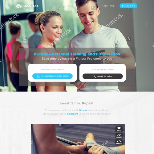 Modern Homepage for Fitness Startup