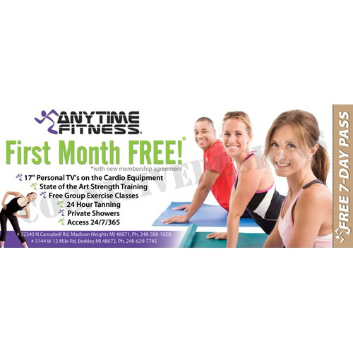 Anytime Fitness Advertisment for print - 24 hour health club