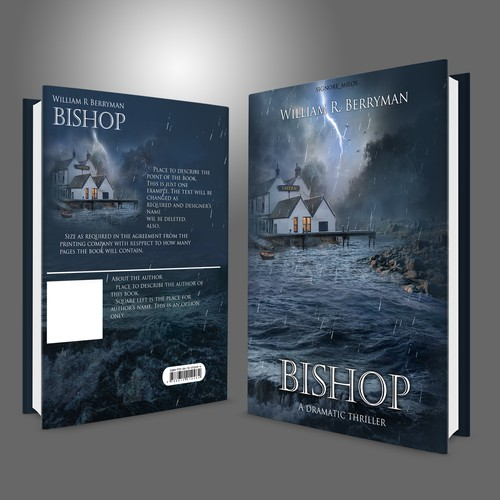 "Entry design for Book Cover contest ""Bishop"" by William R. Berryman"