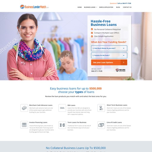 Business Loan Website Design