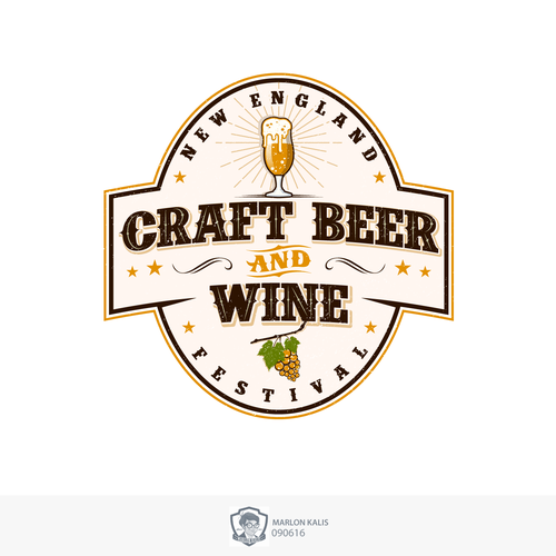 Bold Logo For Beer & Wine Fenstival in England
