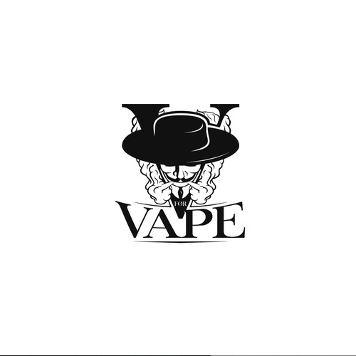 Luxurious VforVape Logo