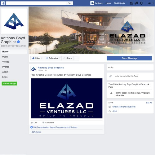 facebook cover and logo