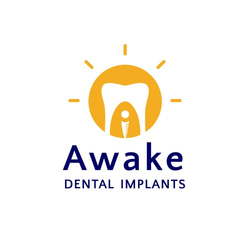 Uplifting logo for affordable implant service